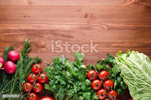 507328769 istock photo Assortment of fresh vegetables 853626084