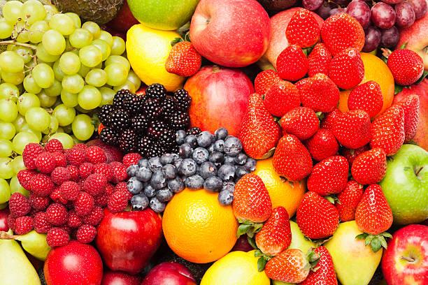 variedad de frutas - fruta fotografías e imágenes de stock