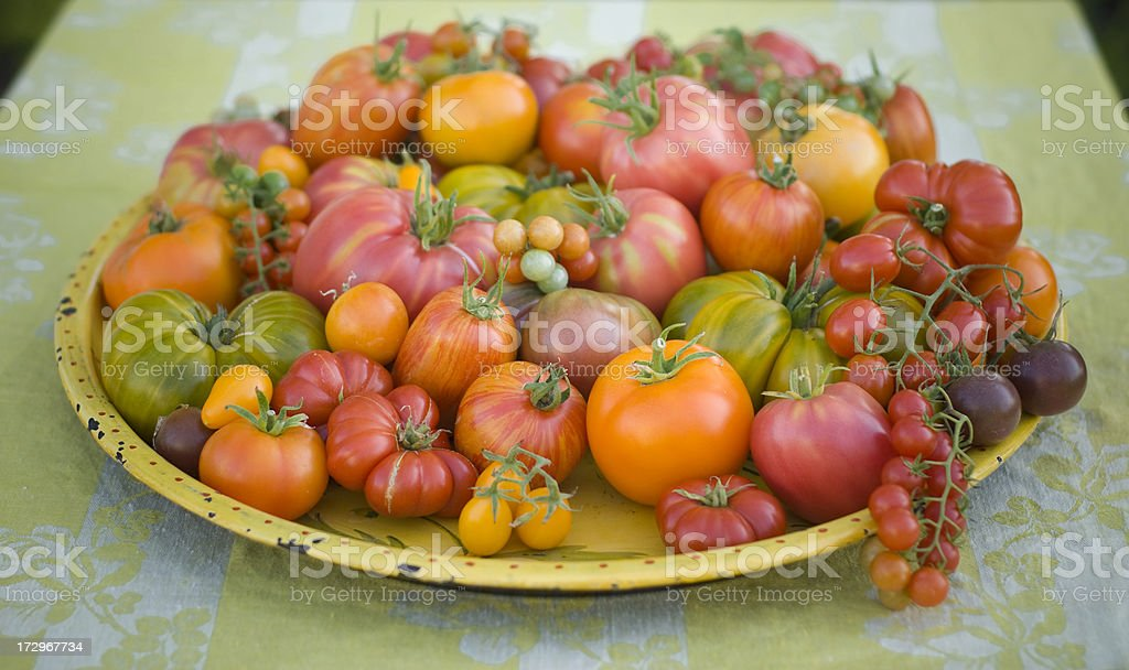 Assortment of Heirloom Tomatoes royalty-free stock photo