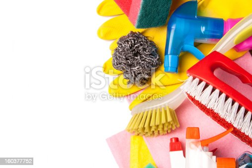 istock Assortment of means for cleaning and washing 160377752
