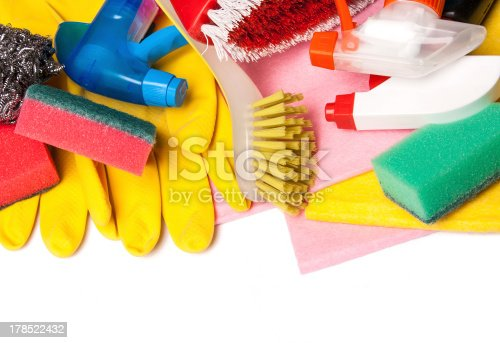 istock Assortment of means for cleaning and washing 178522432