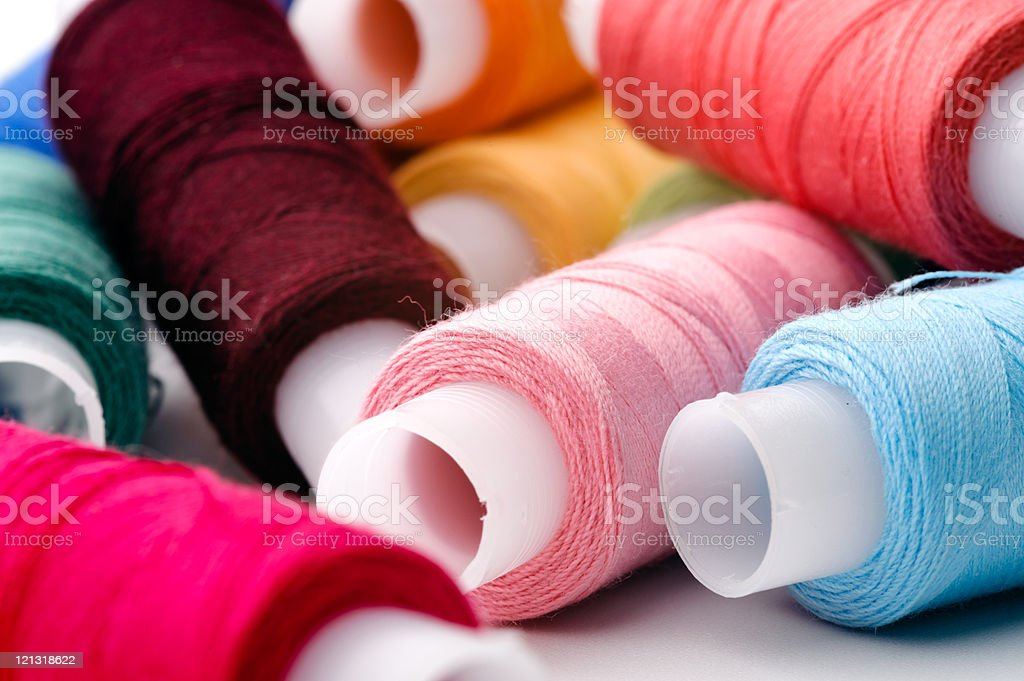 Assortment of multicoloured threads royalty-free stock photo