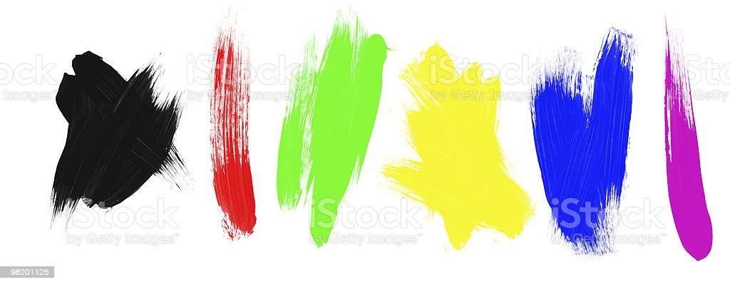 Assortimento di pennello di vernice foto stock royalty-free