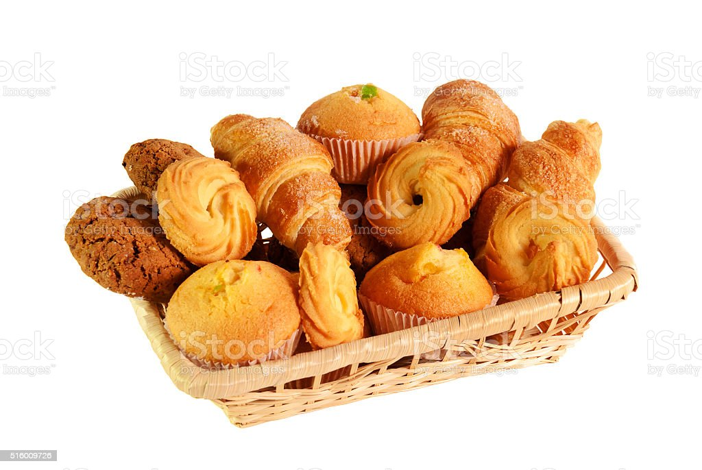 Assortment of pastries and cookies stock photo