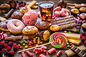 istock Assortment of products with high sugar level 1137312508