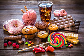 istock Assortment of products with high sugar level 1137312526