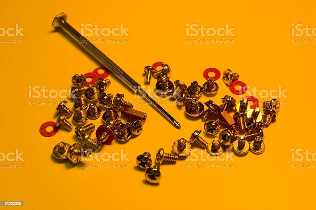 Assortment of Screws royalty-free stock photo