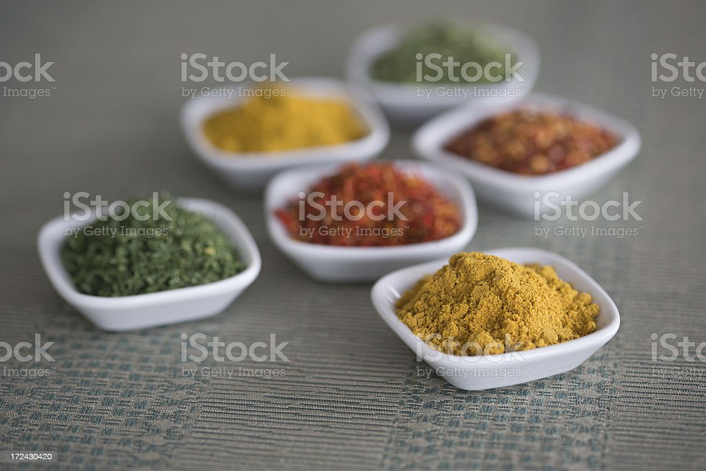 Assortment of spices royalty-free stock photo