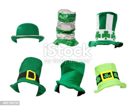 istock Assortment of St Patricks Day Hats 469199233