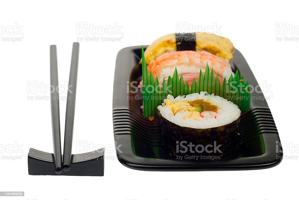 assortment of sushi royalty-free stock photo