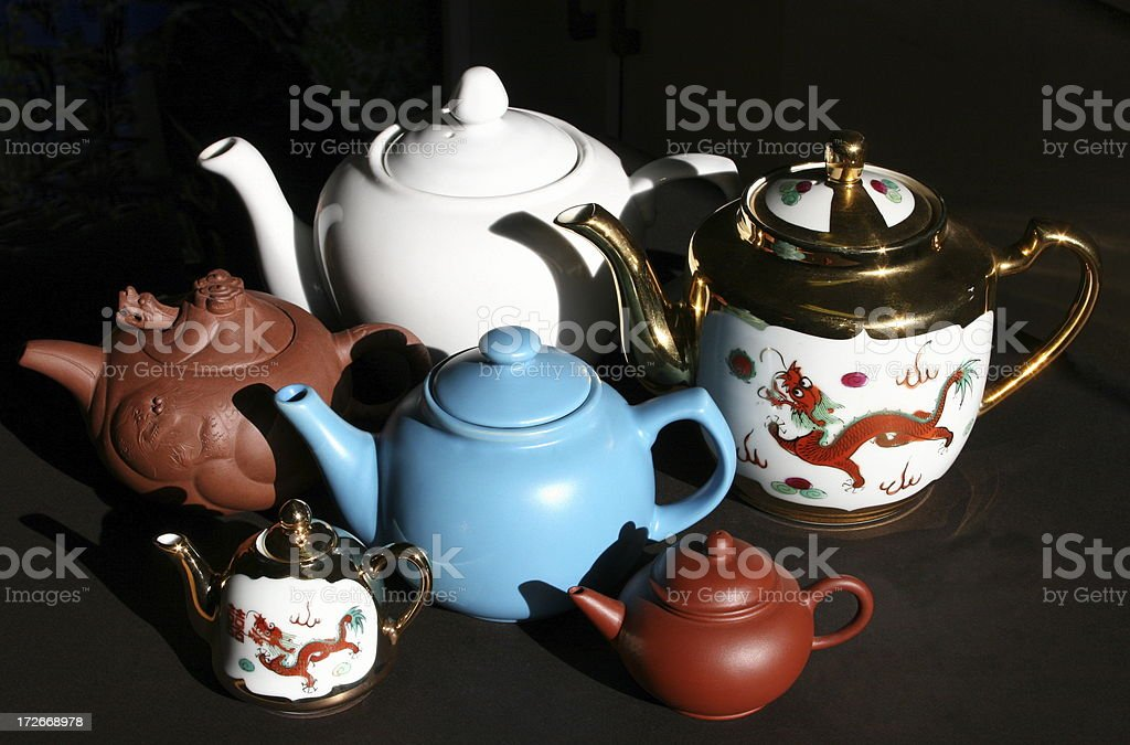 Assortment Of Teapots royalty-free stock photo