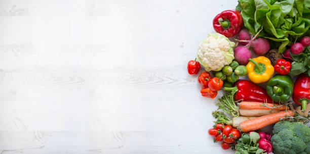 Assortment of the fresh vegetables stock photo