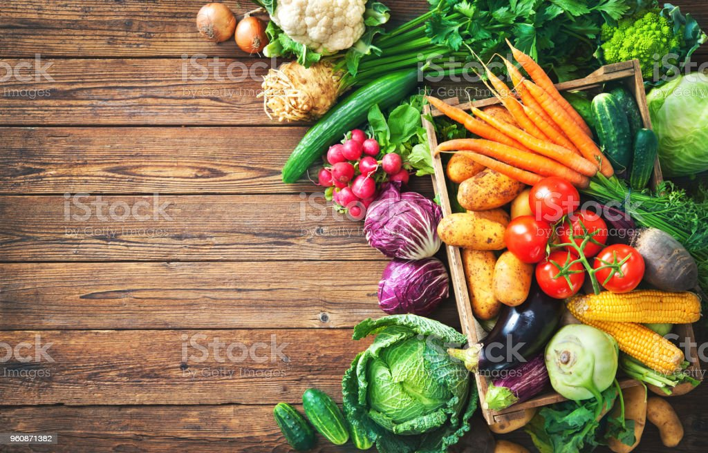 Auswahl an frischem Gemüse – Foto