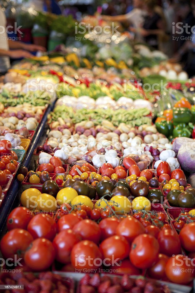 Assortment of Vegetables at Farmers Market royalty-free stock photo