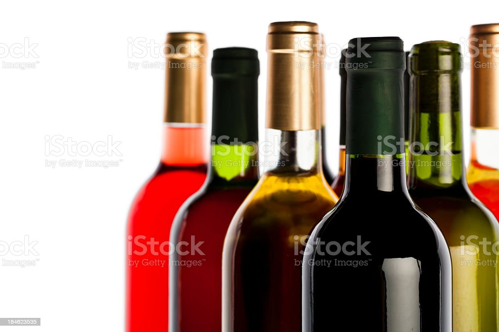 Assortment of wines royalty-free stock photo
