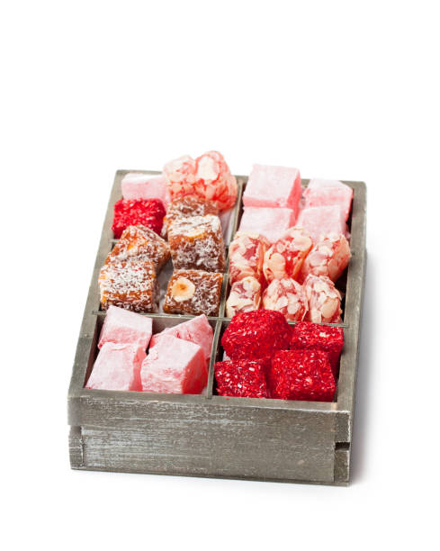 Assortment turkish delight in wooden box isolated on white picture id904441272?b=1&k=6&m=904441272&s=612x612&w=0&h=rgxpqdpqer7t5cs3ba9qvdcm16nejzoq2bs1r7zlbhg=