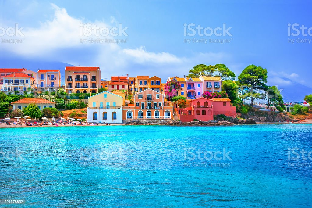 Assos beach stock photo