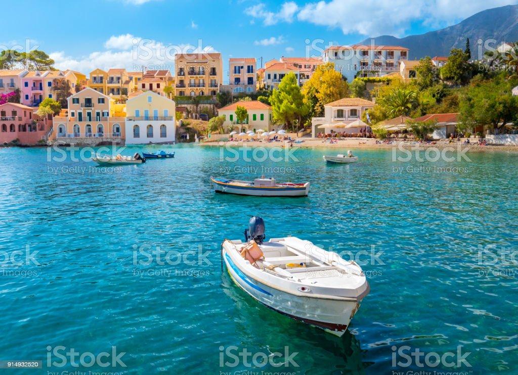 Assos Cephalonia Greece stock photo