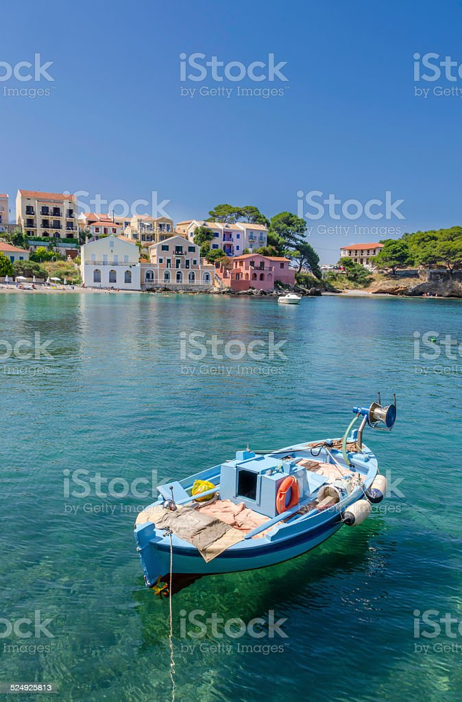 Assos Fishing Boat stock photo
