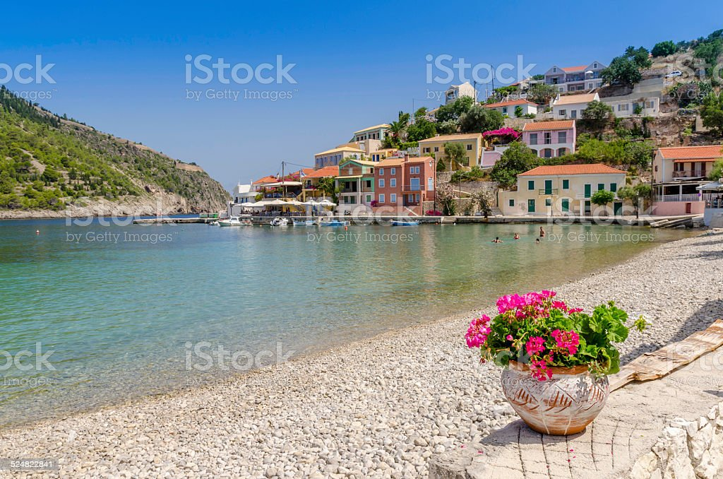 Assos - Kefalonia, Greece stock photo