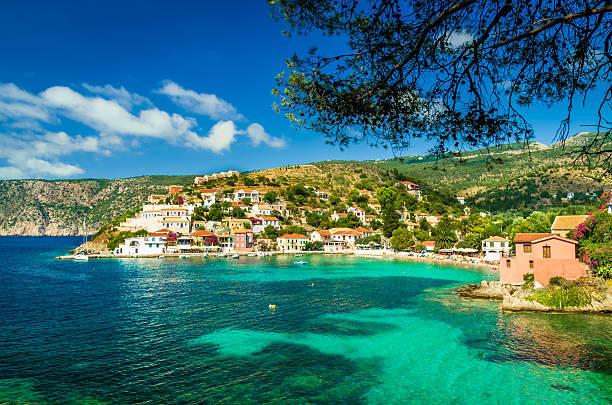 Assos auf der Insel Kefalonia in Griechenland – Foto