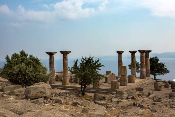 Assos, ruins of ancient city, Behramkale, Turkey stock photo