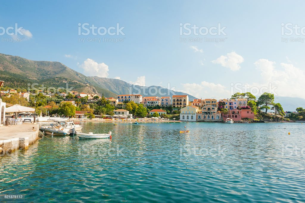 Assos town bay stock photo