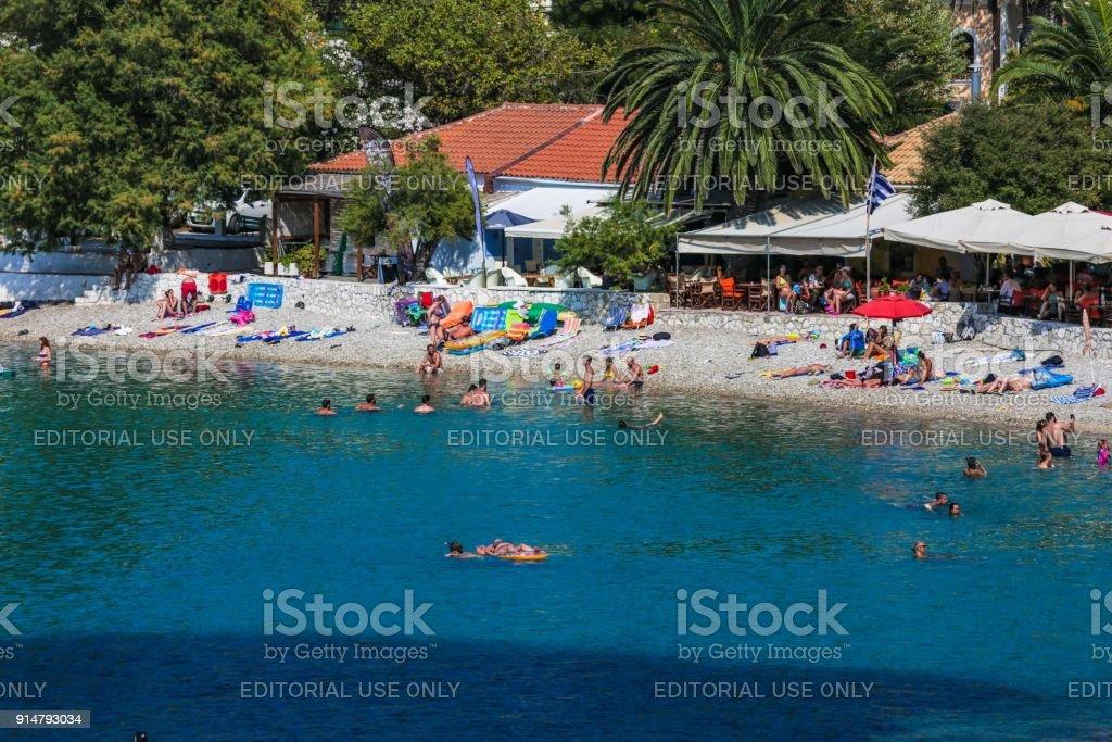 Assos village in Kefalonia island, Greece stock photo