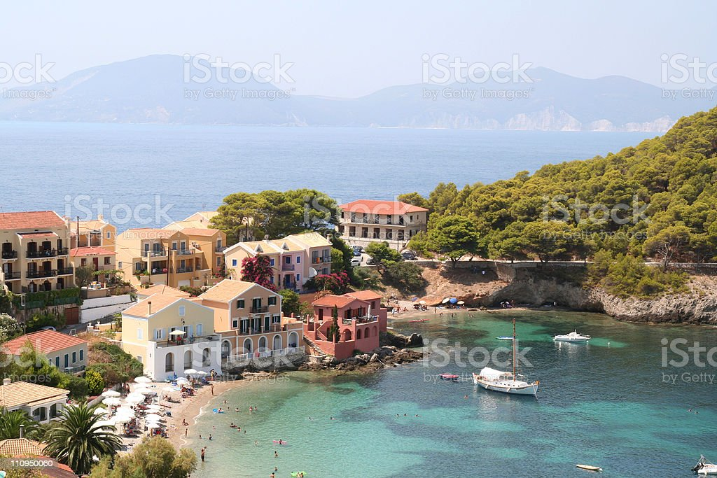 Assos Village. stock photo