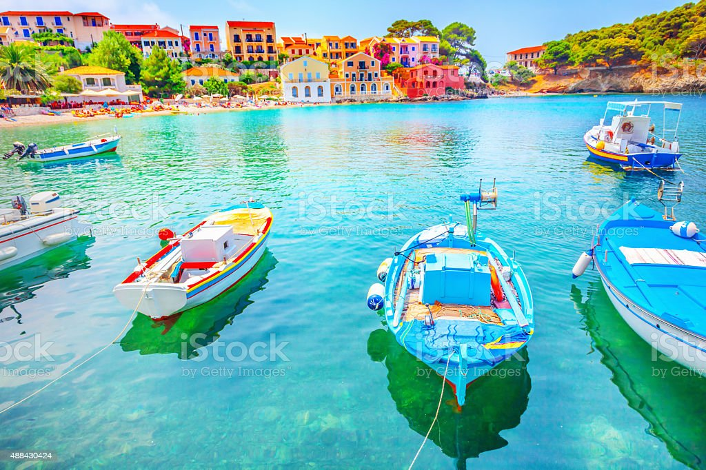 Assos village stock photo