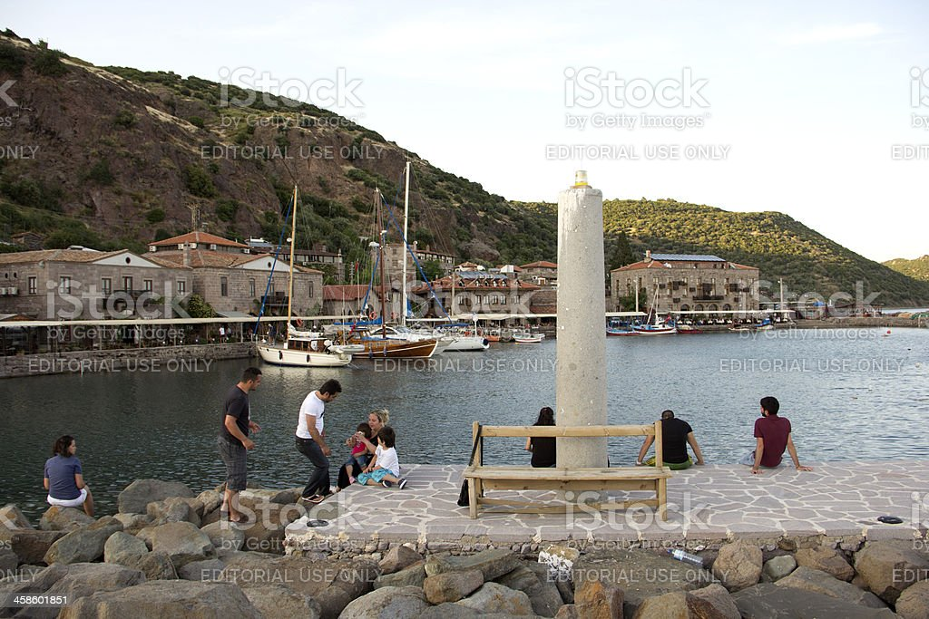 Assos,Behramkale - Aegean Sea Coast stock photo