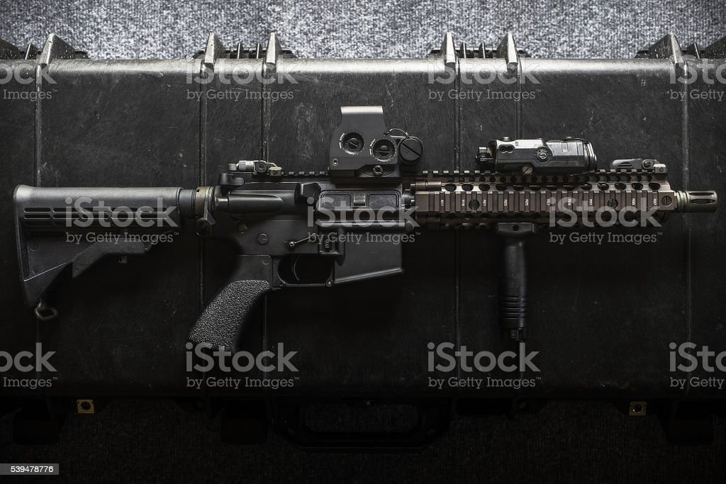 assult rifle stock photo