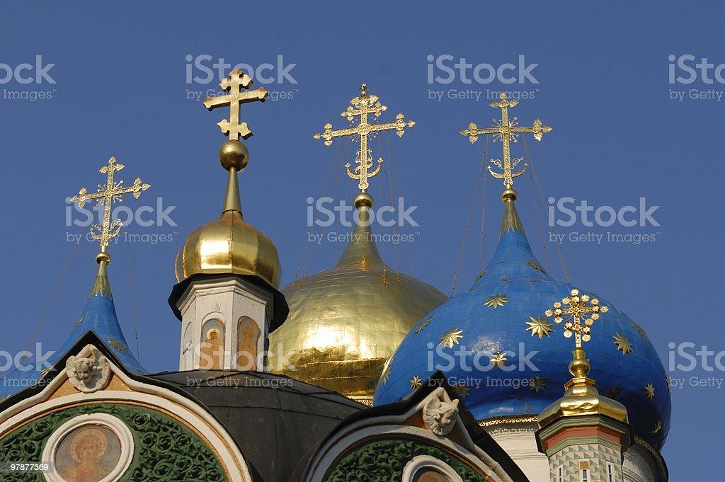 Assumption cathedral at Sergiev Posad monastery royalty-free stock photo