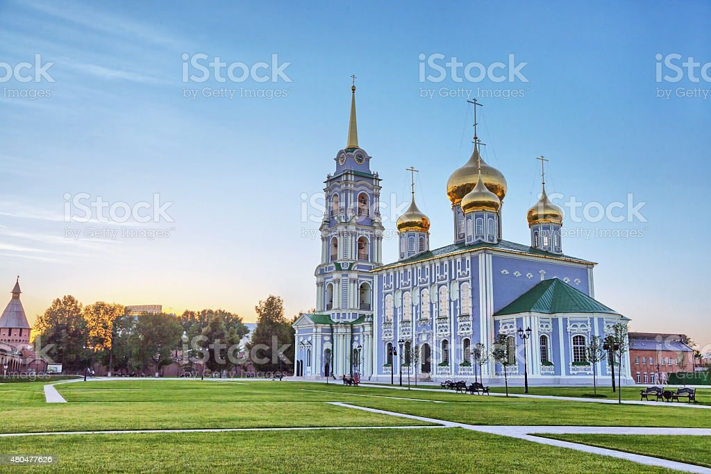Assumption Cathedral in Tula kremlin, Russia stock photo