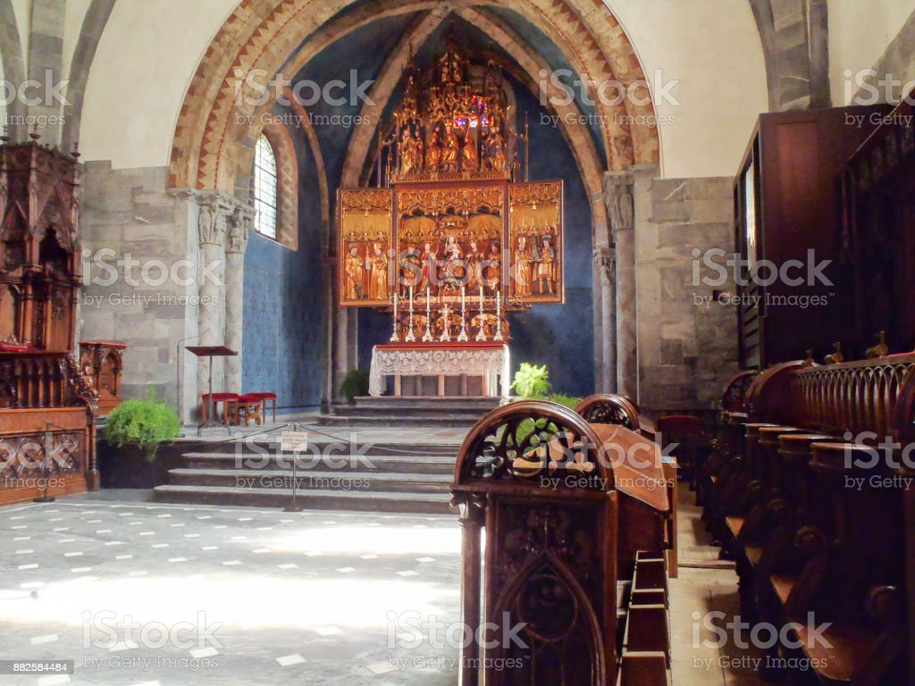 Assumption Cathedral of Chur stock photo