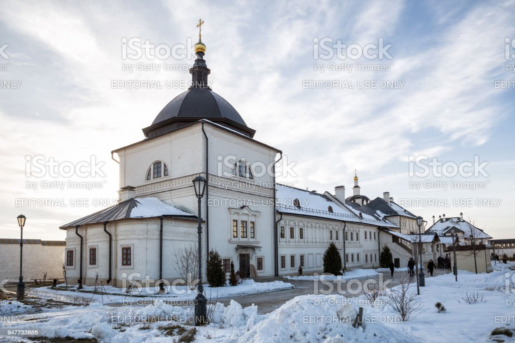 Assumption Monastery in Sviyazhsk, Russia stock photo