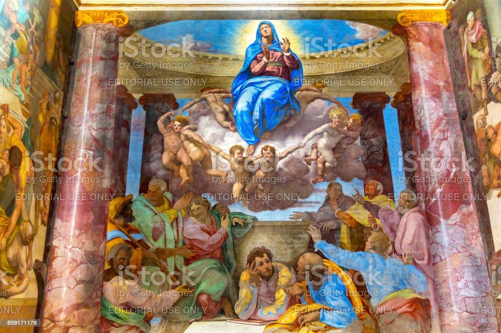Assomption de la Vierge Marie fresque Trinita Dei Monti Spagna Rome Italie - Photo