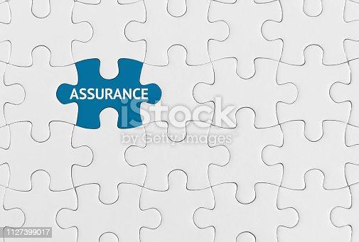 istock Assurance, Puzzle concept. 1127399017