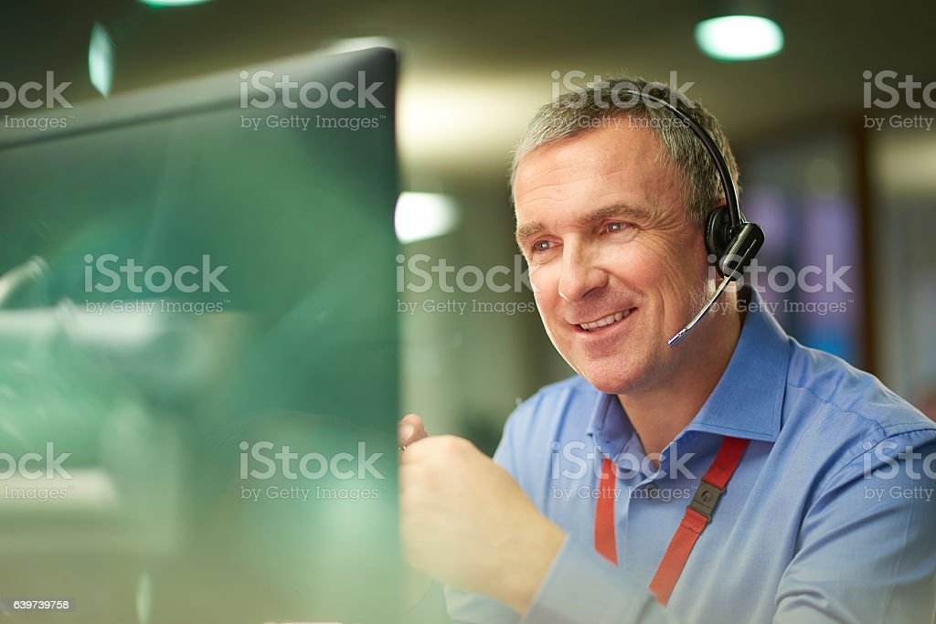 assured call handler stock photo