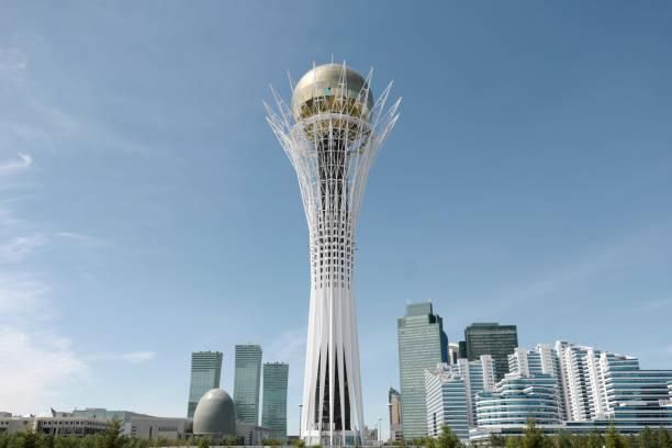 Astana Baiterek tower stock photo