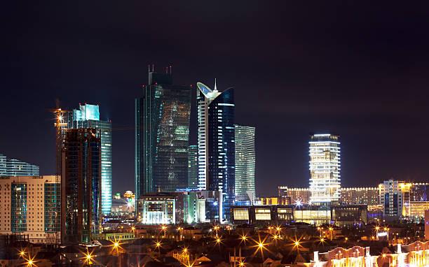 Astana City Night View stock photo