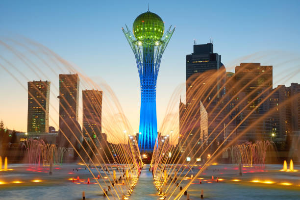 Astana cityscape Astana is the capital of Kazakhstan kazakhstan stock pictures, royalty-free photos & images
