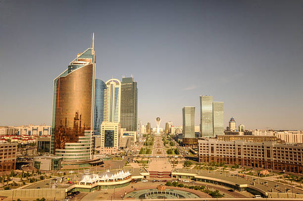 Astana - Skyline Skyline of the Kazakh Capital Astana. kazakhstan stock pictures, royalty-free photos & images