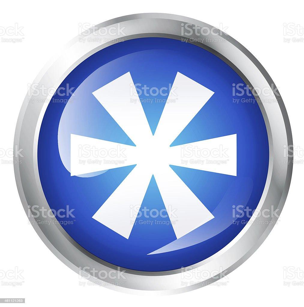 Asterisk icon royalty-free stock photo