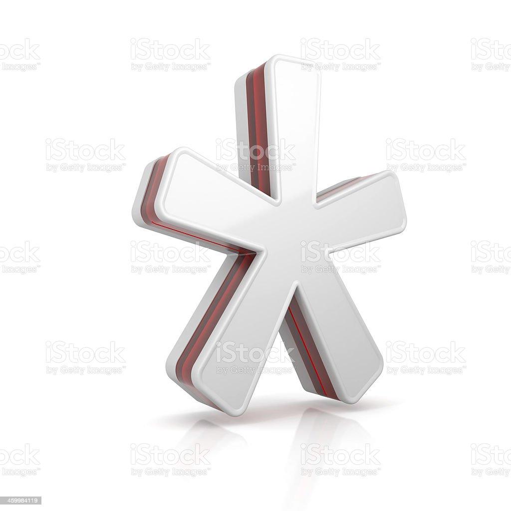 Asterisco simbolo della stella - foto stock