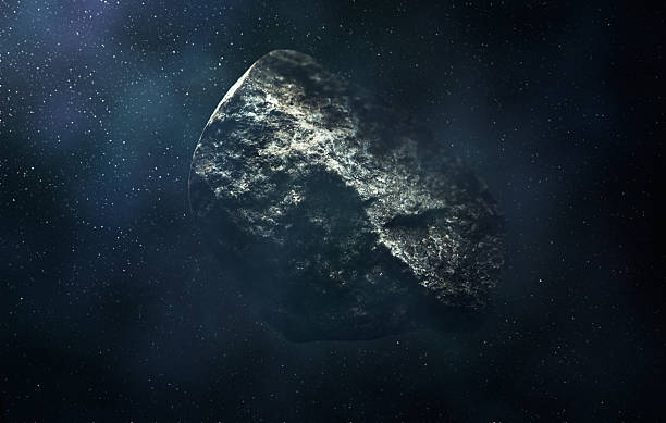 Asteroid in Space stock photo