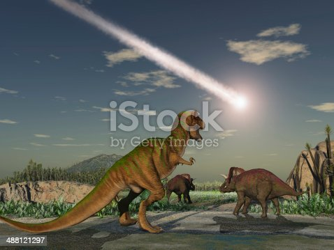 istock Asteroid that wiped out the dinosaurs 488121297
