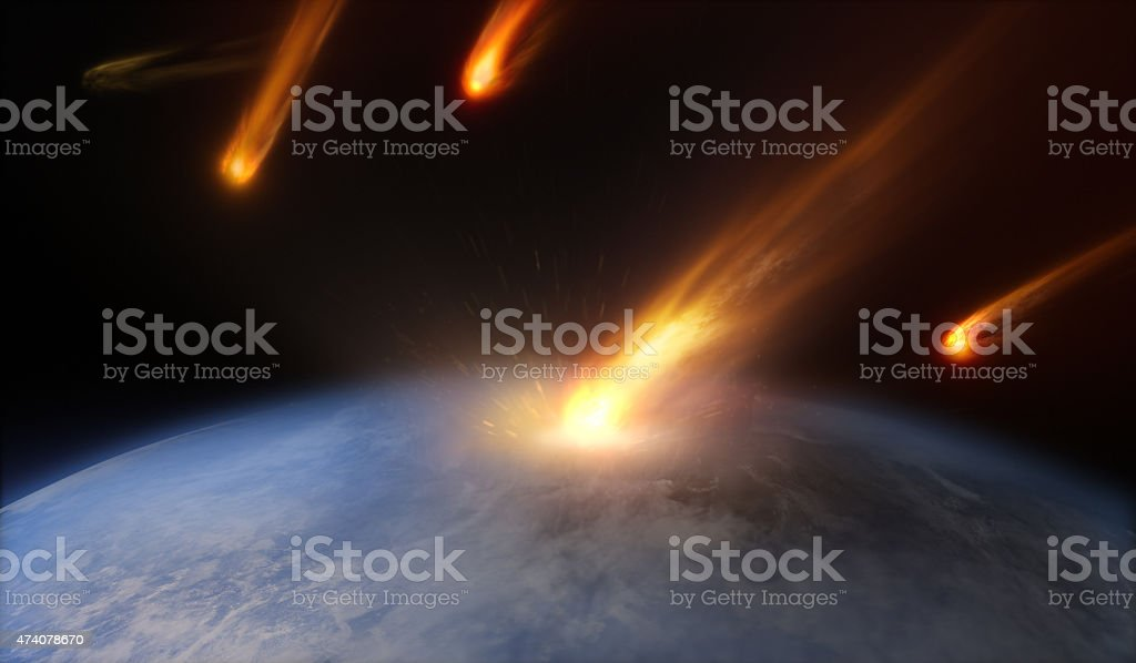 Asteroids stock photo