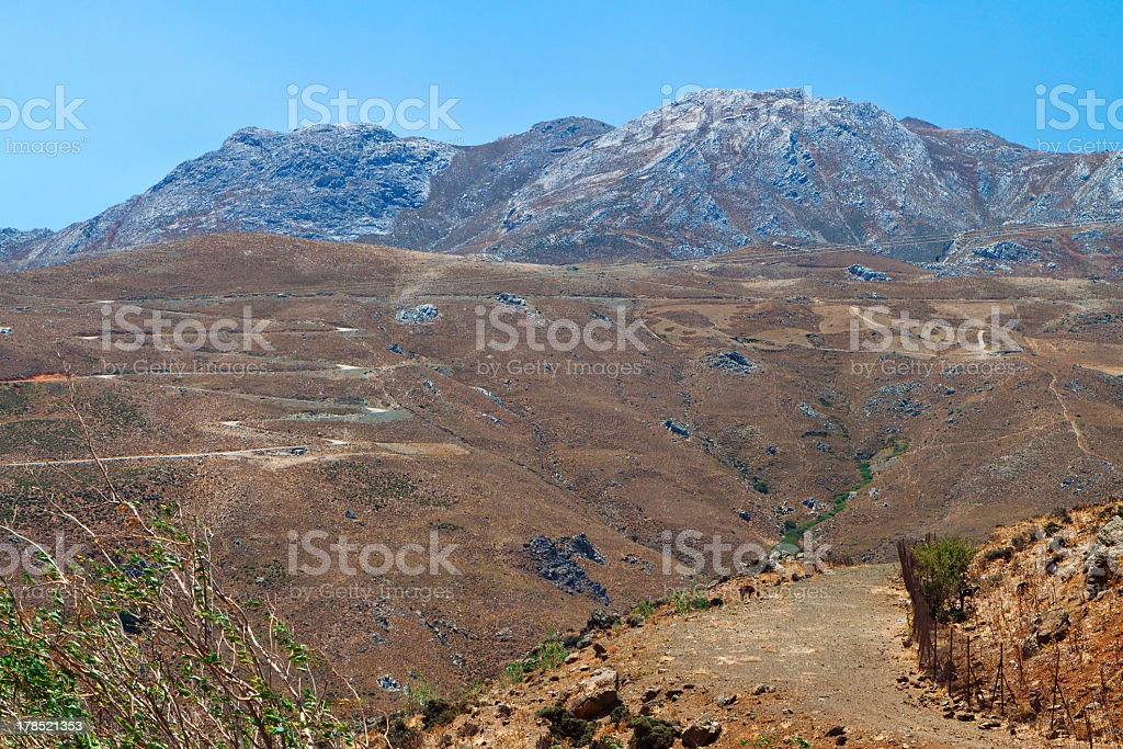 Asterousia mountains at Crete island in Greece stock photo
