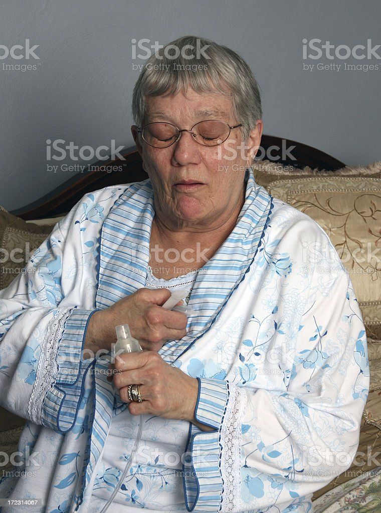 Asthma Attack royalty-free stock photo